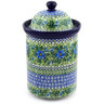 11-inch Stoneware Jar with Lid - Polmedia Polish Pottery H5590E