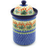 11-inch Stoneware Jar with Lid - Polmedia Polish Pottery H6920F