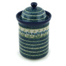 11-inch Stoneware Jar with Lid - Polmedia Polish Pottery H7999B