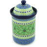 11-inch Stoneware Jar with Lid - Polmedia Polish Pottery H8292G