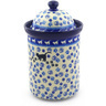 11-inch Stoneware Jar with Lid - Polmedia Polish Pottery H9518E