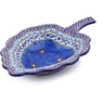 11-inch Stoneware Leaf Shaped Bowl - Polmedia Polish Pottery H5608I