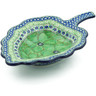 11-inch Stoneware Leaf Shaped Bowl - Polmedia Polish Pottery H8010I