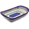 11-inch Stoneware Platter with Handles - Polmedia Polish Pottery H8976I