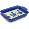 11-inch Stoneware Rectangular Baker with Handles - Polmedia Polish Pottery H4241G