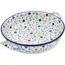 11-inch Stoneware Round Baker with Handles - Polmedia Polish Pottery H4518L
