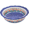 11-inch Stoneware Scalloped Bowl - Polmedia Polish Pottery H0537M