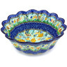 11-inch Stoneware Scalloped Fluted Bowl - Polmedia Polish Pottery H3384G