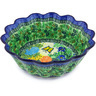 11-inch Stoneware Scalloped Fluted Bowl - Polmedia Polish Pottery H4469G