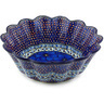 11-inch Stoneware Scalloped Fluted Bowl - Polmedia Polish Pottery H5609G