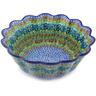 11-inch Stoneware Scalloped Fluted Bowl - Polmedia Polish Pottery H5671G