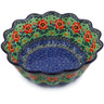 11-inch Stoneware Scalloped Fluted Bowl - Polmedia Polish Pottery H6689B