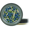 11-inch Stoneware Set of 6 Plates - Polmedia Polish Pottery H2984I