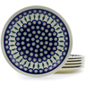 11-inch Stoneware Set of 6 Plates - Polmedia Polish Pottery H4946J