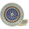 11-inch Stoneware Set of 6 Plates - Polmedia Polish Pottery H4947J