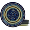 11-inch Stoneware Set of 6 Plates - Polmedia Polish Pottery H5363J