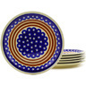 11-inch Stoneware Set of 6 Plates - Polmedia Polish Pottery H8870F