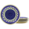 11-inch Stoneware Set of 6 Plates - Polmedia Polish Pottery H8879F