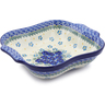11-inch Stoneware Square Baker with Handles - Polmedia Polish Pottery H2493J