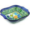 11-inch Stoneware Square Baker with Handles - Polmedia Polish Pottery H4780G