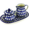 11-inch Stoneware Sugar and Creamer Set - Polmedia Polish Pottery H4303G