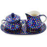 11-inch Stoneware Sugar and Creamer Set - Polmedia Polish Pottery H9075K