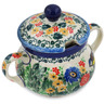11 oz Stoneware Sugar Bowl - Polmedia Polish Pottery H5519L