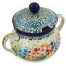 11 oz Stoneware Sugar Bowl - Polmedia Polish Pottery H5622L