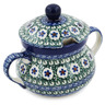 11 oz Stoneware Sugar Bowl - Polmedia Polish Pottery H8657K