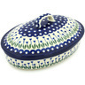 12-inch Stoneware Baker with Cover - Polmedia Polish Pottery H7398G