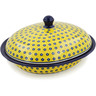 12-inch Stoneware Baker with Cover - Polmedia Polish Pottery H8631K