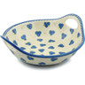 12-inch Stoneware Bowl with Handles - Polmedia Polish Pottery H3720I