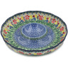 12-inch Stoneware Chip and Dip Platter - Polmedia Polish Pottery H1639L