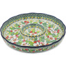 12-inch Stoneware Chip and Dip Platter - Polmedia Polish Pottery H1668L