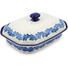 12-inch Stoneware Dish with Cover - Polmedia Polish Pottery H1087J