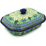 12-inch Stoneware Dish with Cover - Polmedia Polish Pottery H2232H