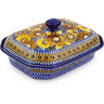 12-inch Stoneware Dish with Cover - Polmedia Polish Pottery H3615F