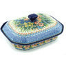 12-inch Stoneware Dish with Cover - Polmedia Polish Pottery H4815H