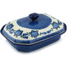12-inch Stoneware Dish with Cover - Polmedia Polish Pottery H7589B