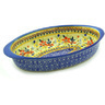 12-inch Stoneware Oval Baker with Handles - Polmedia Polish Pottery H3351F
