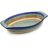 12-inch Stoneware Oval Baker with Handles - Polmedia Polish Pottery H7217C