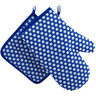 12-inch Stoneware Oven Mitten with Pot Holder - Polmedia Polish Pottery H0266I