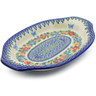 12-inch Stoneware Platter with Handles - Polmedia Polish Pottery H3087J