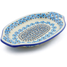 12-inch Stoneware Platter with Handles - Polmedia Polish Pottery H4173J