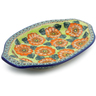 12-inch Stoneware Platter with Handles - Polmedia Polish Pottery H4208J