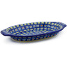 12-inch Stoneware Platter with Handles - Polmedia Polish Pottery H4236J