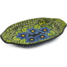 12-inch Stoneware Platter with Handles - Polmedia Polish Pottery H6131I