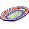12-inch Stoneware Platter with Handles - Polmedia Polish Pottery H8972I
