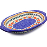 12-inch Stoneware Platter with Handles - Polmedia Polish Pottery H9783I