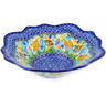 12-inch Stoneware Scalloped Bowl - Polmedia Polish Pottery H0389E
